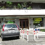 Parking in front of building