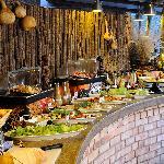 Etosha Village Buffet Dinner setup