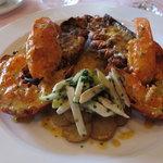 Roasted lobster