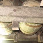 Actual Beam bourbon barrels aging