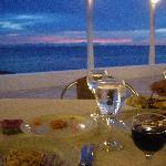 dinner at sunset