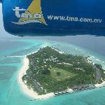 L'île est réellement comme on la voit sur le site de l'hôtel