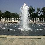 Waterfall at memorial