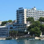 The view of the Hotel Hawaii from Palma Nova Beach