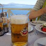 ビールはたっぷり500ml