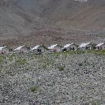Rows of tents