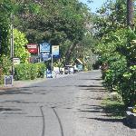 Driving through Muri Beach area