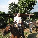 Horseback riding with Guinness travel
