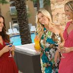 Relax with cocktails at the poolside Cabana Bar & Grill