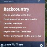 Always leave no trace