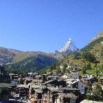 Das Matterhorn vom Zimmer bei Tag.