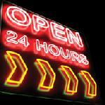 We're Open 24 Hours!