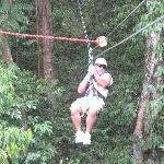lots of fun on the zipline