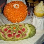 sculpture sur courge pasteque et melon
