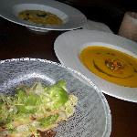 Brussel Sprout Salad; Pumpkin Soup, Pumpkin Risotto