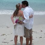 Perfect wedding day on the beach