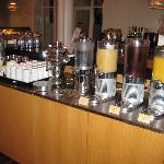 Juices & teas - coffee was brought to the table