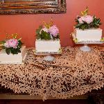 The dining room was perfect for serving the wedding cake