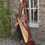 Perfect setting for the harpist