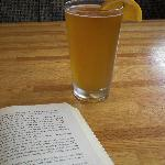 A beer with my book