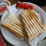 Delicious toasted sandwich!