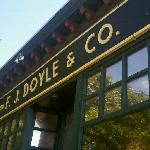 Doyle's! You can take a free trolley there after the Sam Adams tour! Only 5.50 for the beer & gl