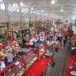 View of market from second floor