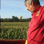 Capt Daniel skimming the corn fields.  So close we could touch the tops of the corn stocks.