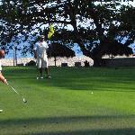 Golfing Hole 7 Green beside the ocean