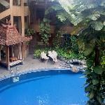 The view of the pool from our room..