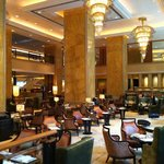 lounge area at hotel lobby