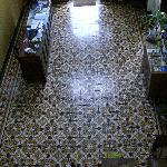 Entry way with original tile.