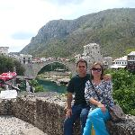 Ourselves in the Old Town in Mostar