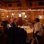 Inside lakefront restaurant