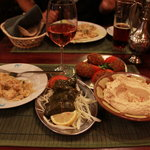 My dishes, and a small plate of biriyani