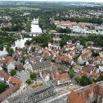 View of Ulm and surrounding city, from the top of the church tower
