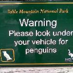 sign in car park