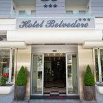 Ingresso dell'Hotel Belvedere di Gatteo Mare
