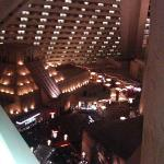 View from 14th floor inside hotel