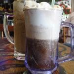 milkshake and coke float