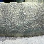 Stone at Newgrange entrance