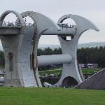 Falkirk wheel - moving barges from one canal to another - 20 mins drive away