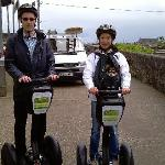 Touring around Galway City on a Segway with puppet