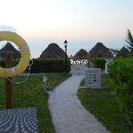 The entrance to the beach