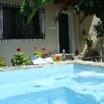 Terrace and soaking pool