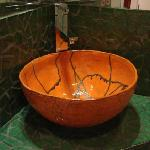 Artistic hand-made sink