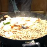 My fave: Wheat noodles w/Coconut Shrimp sauce