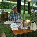 diner dans le jardin  !