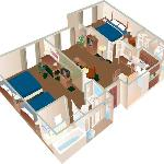 Two Bedroom Suite Layout