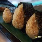 Grilled Japanese rice